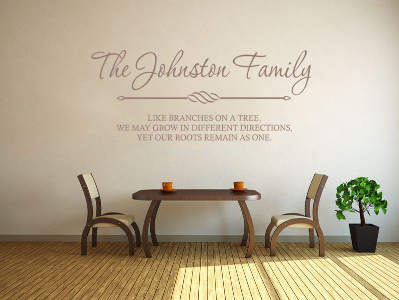 Personalised Family Wall Art Amp Quote Wall Sticker Decal